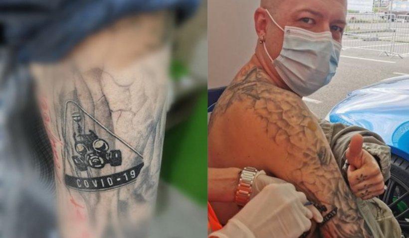 """Un orădean şi-a tatuat """"COVID-19"""" pe braț, apoi a cerut să i se administeze vaccinul chiar lângă tatuaj"""