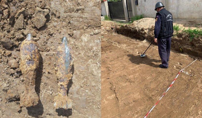 Două bombe neexplodate, din al Doilea Război Mondial, descoperite în Oradea de un muncitor