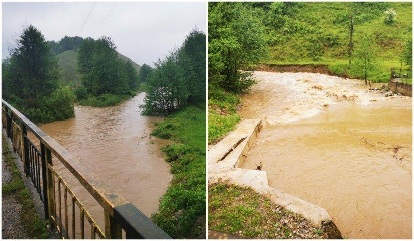 Codul roșu de inundații, prelungit în Bihor. O familie formată din 6 membrii, evacuată din cauza viiturii