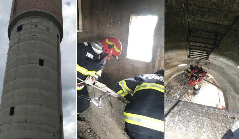 Un copil de 12 ani a căzut într-un castel de apă dezafectat, adânc de 7 metri, în Ialomiţa