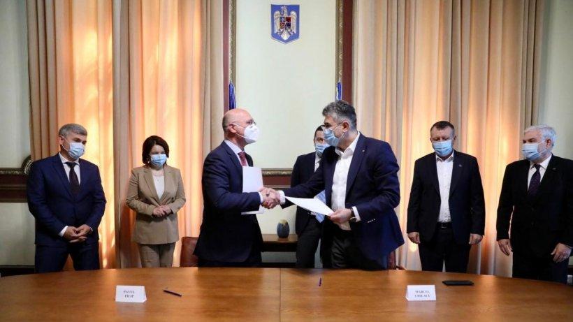 Marcel Ciolacu: Astăzi am semnat Acordul de Cooperare dintre Partidul Democrat din Moldova și PSD