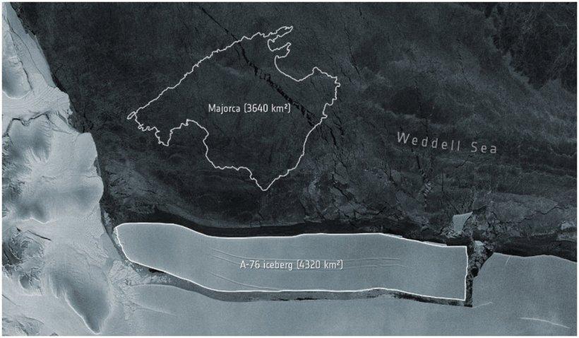 Un aisberg de peste 4.000 de kilometri pătraţi s-a desprins din Antarctica