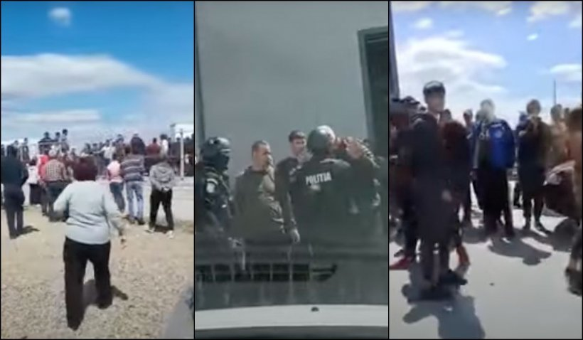 Inspectori ameninţaţi şi huiduiţi în piaţa din Matca, protejaţi de poliţişti şi jandarmi de furia comercianţilor