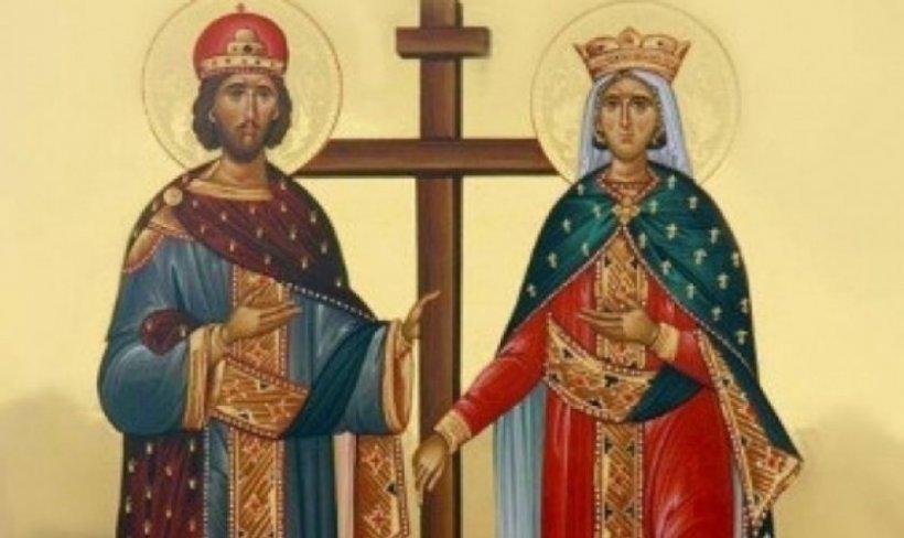 Sfinţii Constantin şi Elena, prăznuiţi azi de ortodocşi. Tradiţii şi obiceiuri: Munca era interzisă