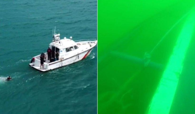 Pescadorul scufundat în Marea Neagră, pe care au murit cinci marinari, a fost găsit de Garda de Coastă