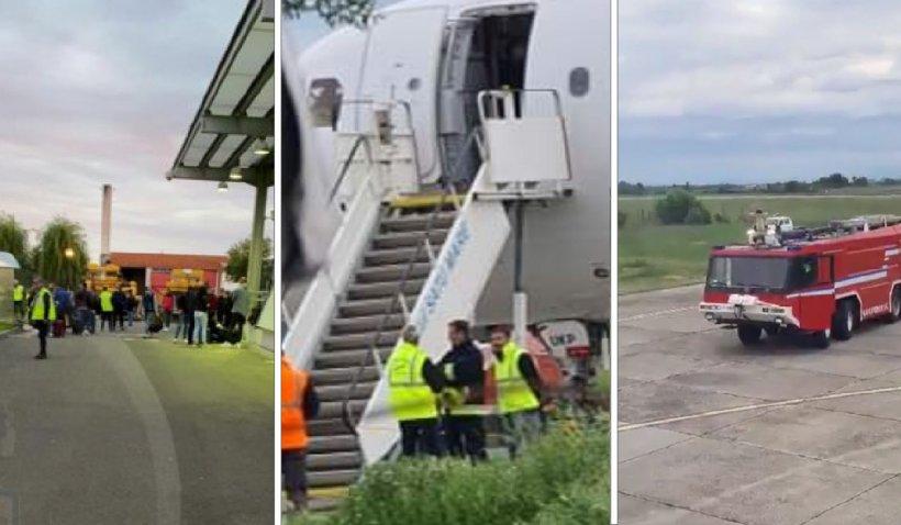 """Pasagerii unui avion care circula pe ruta Satu Mare-Londra au fost evacuaţi de urgenţă: """"S-a simţit miros de combustibil"""""""