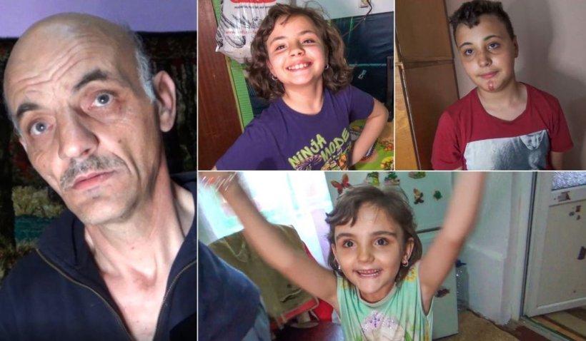 Un tată îşi creşte singur cei trei copii, în gara părăsită din Glimboca