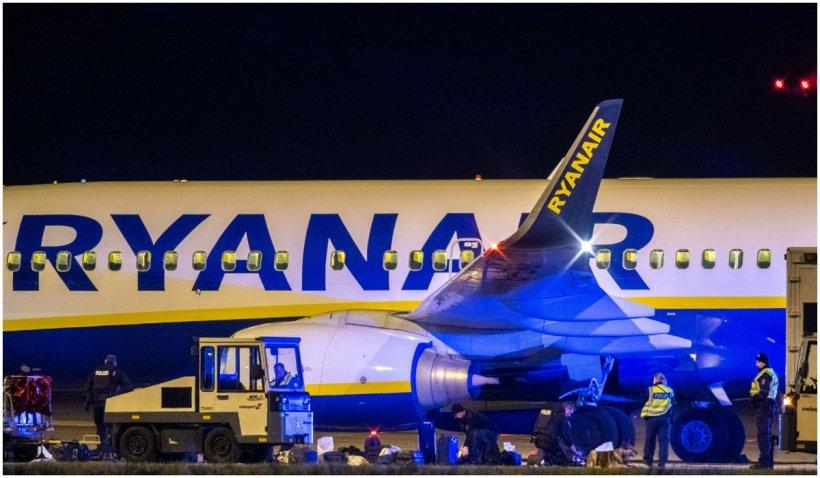 Un avion Ryanair cu 160 de pasageri la bord a aterizat forțat la Berlin, în urma unei amenințări cu bombă