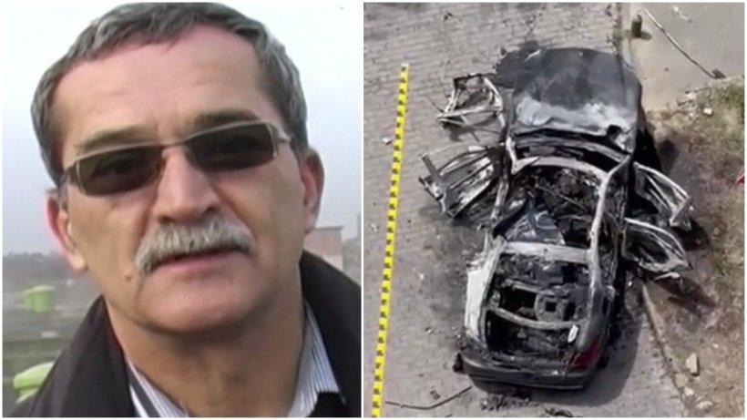 Apropiat al lui Ioan Crişan, gest ciudat după momentul exploziei maşinii în care omul de afaceri a ars de viu