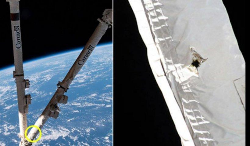 Stația Spațială Internațională a fost lovită de gunoi orbital și a suferit avarii