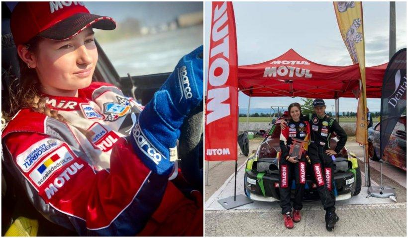 Cel mai tânăr pilot de drift feminin are 14 ani și a adus medalia de aur României. Povestea impresionantă a lui Alice Ene