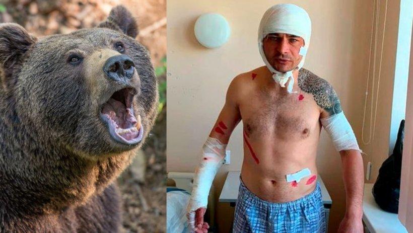 Un bărbat s-a salvat din colții unui urs după ce a făcut pe 'mortul'