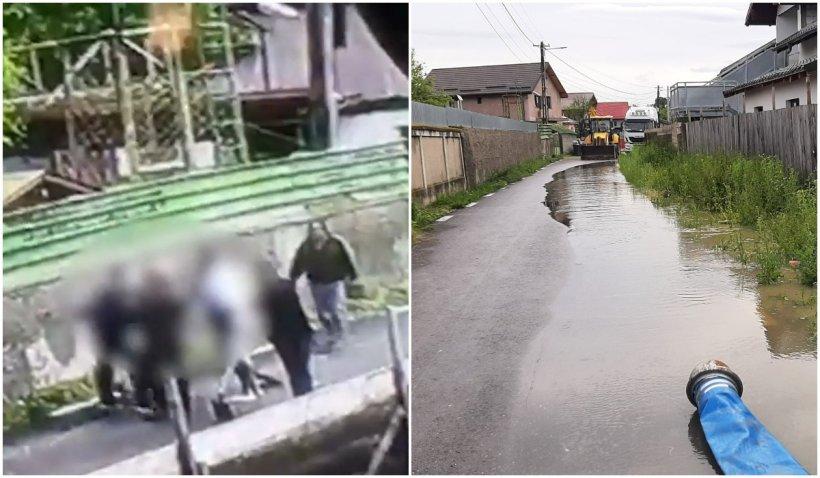 Un bărbat a fost lovit cu pumni și lopeți, după ce le-a reproșat vecinilor că i-au inundat curtea