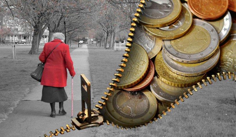 Pensia minimă în 2035, între 350 şi 1.000 de euro