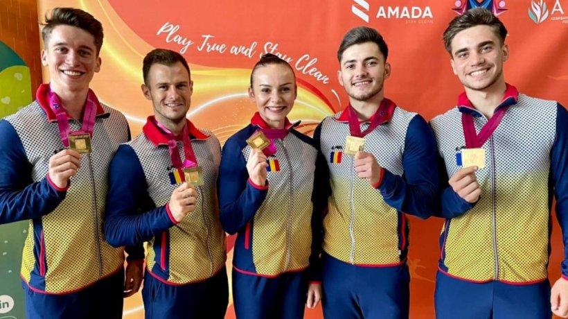 Gimnaştii de aur de la Deva s-au întors cu rezultate excepţionale de la Baku