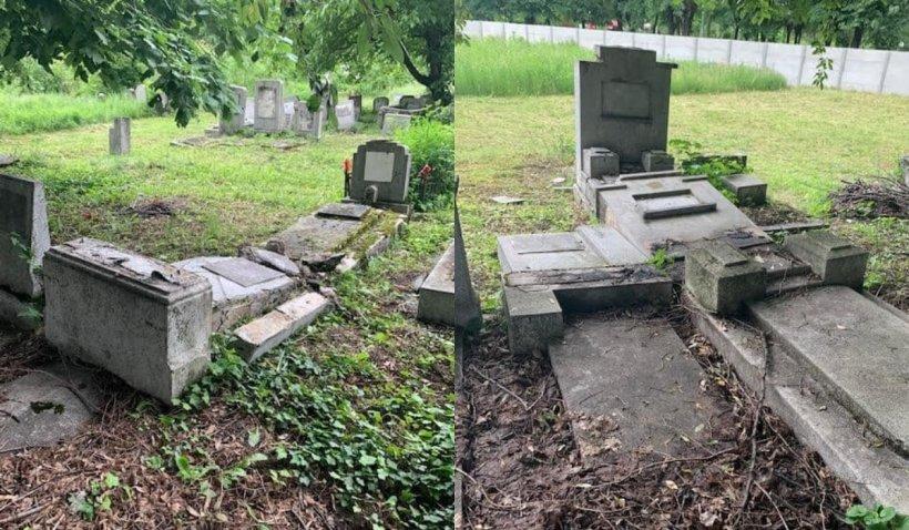 Trei tineri au fost reținuți în cazul mormintelor vandalizate din Cimitirul Evreiesc de la Ploiești