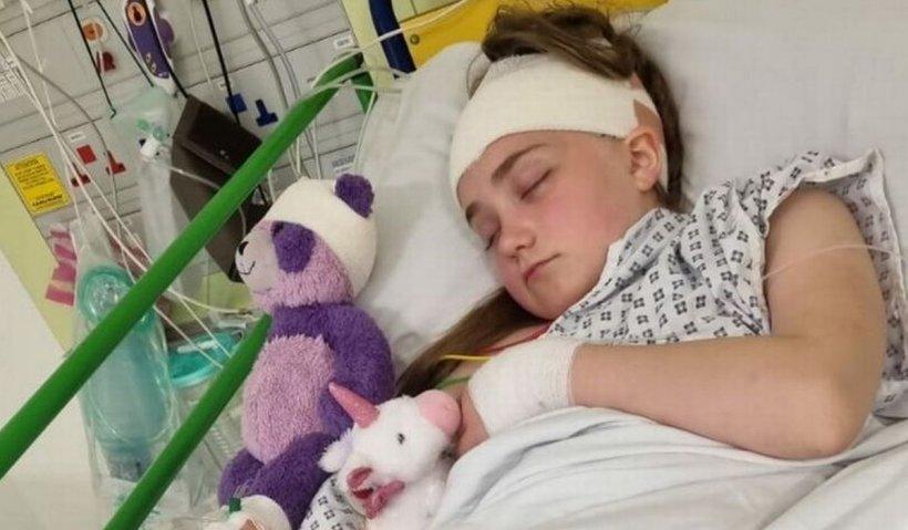 """O fetiţă de 10 ani, dusă la medic că nu vedea bine, a aflat că mai are de trăit 24 de ore. """"A fost sfâșietor"""""""