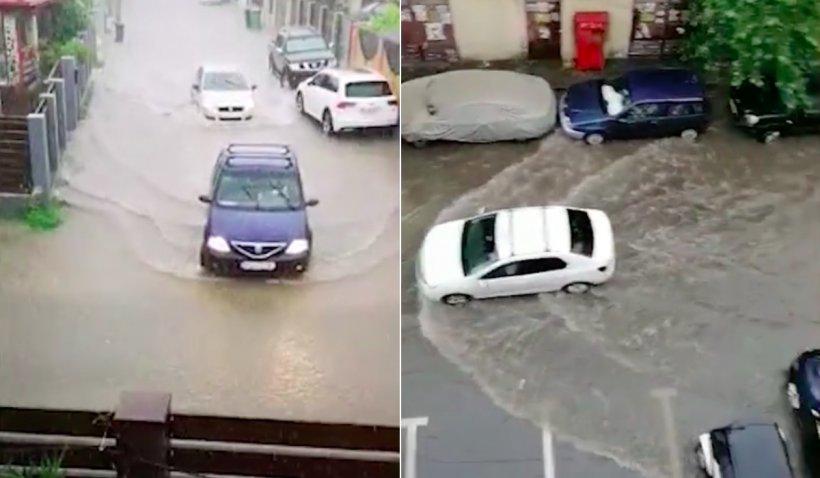 Inundații în București și Ilfov, după o ploaie care a durat mai puțin de o oră