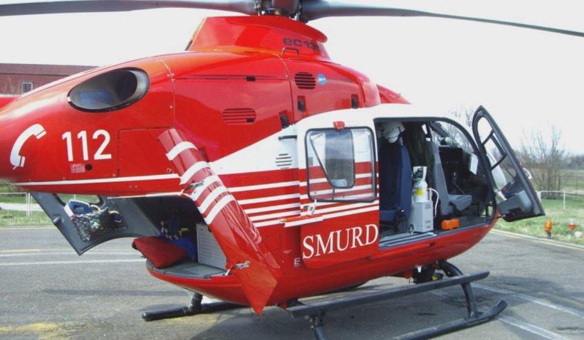 Accident cu cinci mașini în Mureș: O victimă în stare gravă a fost preluată de elicopterul SMURD