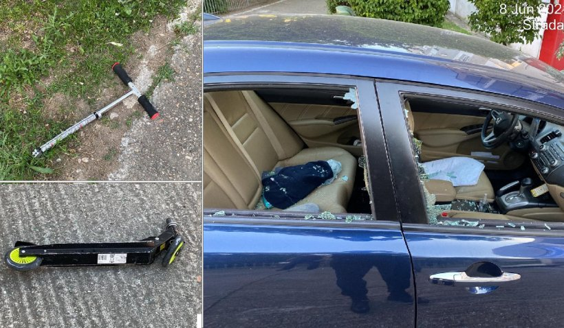 Un poliţist local a fost lovit cu o trotinetă, după ce a intervenit într-un scandal în Arad