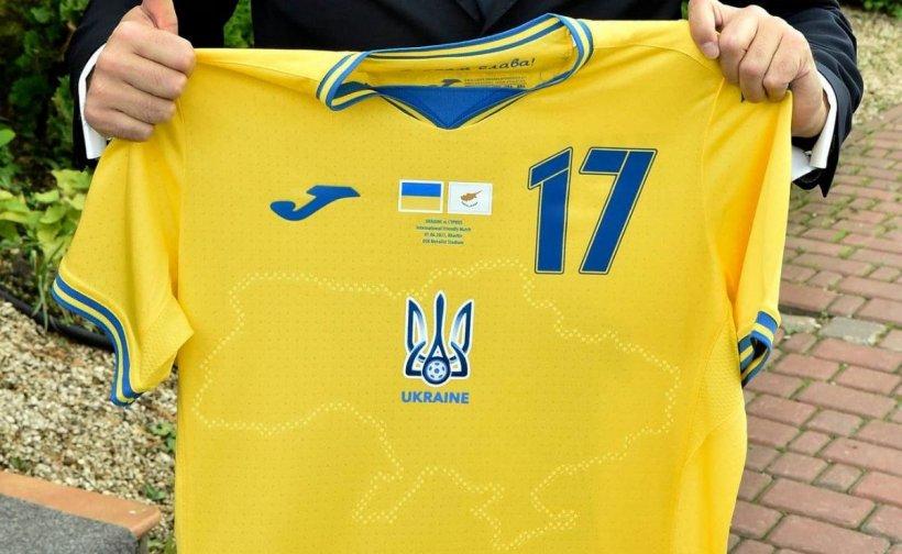Rusia contestă oficial la UEFA design-ul tricoului Ucrainei pentru EURO 2020