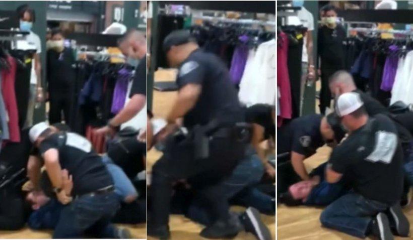 Patru polițiști bat cu pumnii și cu picioarele în cap un adolescent de 17 ani, suspect de furt, în Los Angeles. Imagini cu impact emoțional