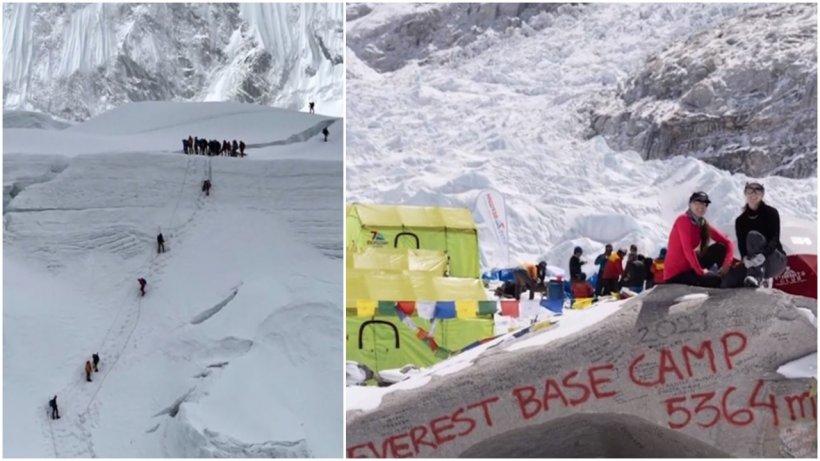 """Gemenele din România care au cucerit Everestul, mărturii impresionante despre aventura riscantă: """"Au fost două cicloane când eram pe munte"""""""