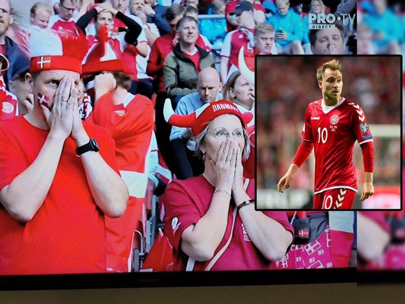 Clipe dramatice la EURO 2020. Un jucător, resuscitat pe teren cu defibrilatorul