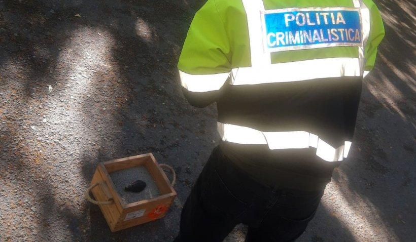 Alertă în Craiova. Poliţiştii au găsit o grenadă pe o alee din centrul orașului