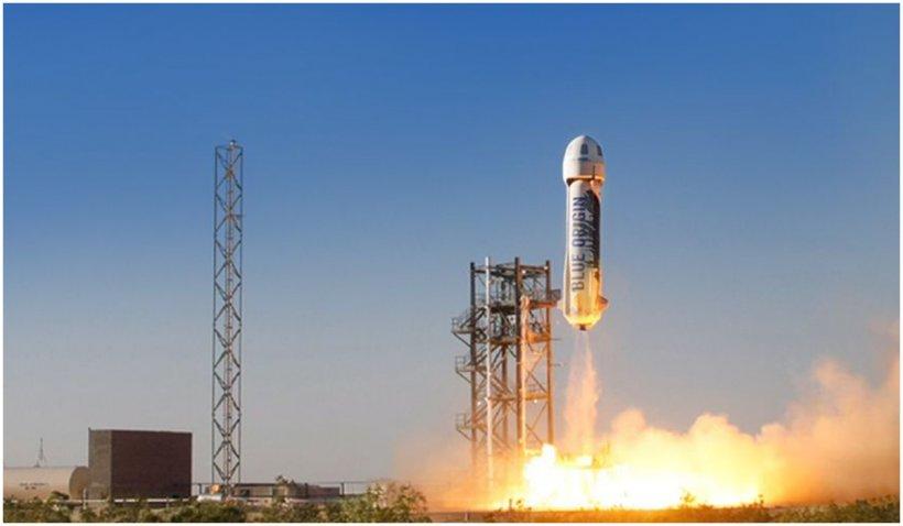 Un loc pentru o călătorie în spațiu cu Jeff Bezos, vândut cu 28 de milioane de dolari la licitație