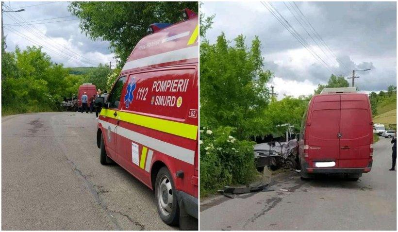 10 persoane din Cluj, implicate într-un accident dintre un microbuz și o autoutilitară