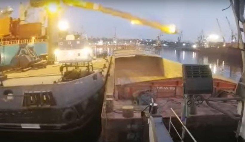 Brațul unei macarale s-a prăbușit peste o navă în portul Constanţa
