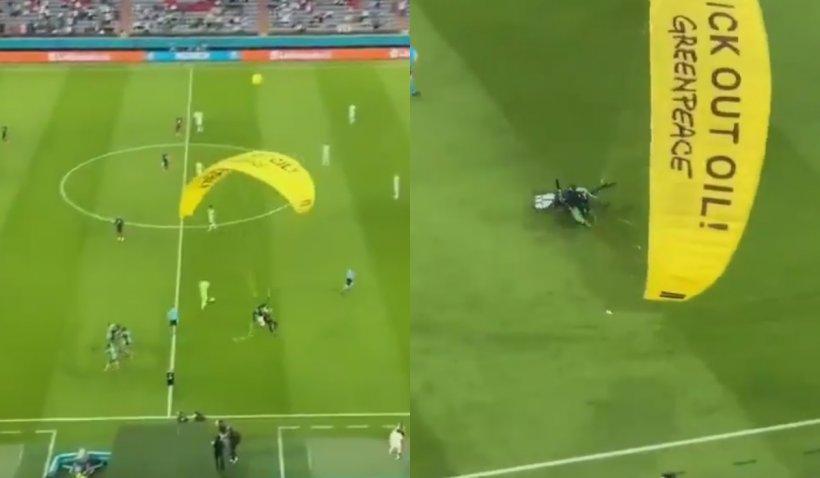 Euro2020: Incident la meciul Germania-Franța. Un parașutist a ratat aterizarea după ce s-a lovit de cablurile suspendate