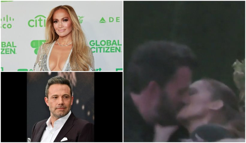 Jennifer Lopez și Ben Affleck, momente romantice la o terasă din Malibu