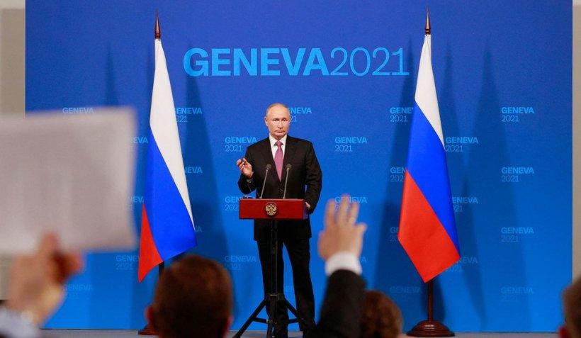 """Vladimir Putin, după întâlnirea cu Joe Biden: """"Când liderii a două mari puteri nucleare se întâlnesc, o fac pentru ca lumea să fie mai sigură"""""""