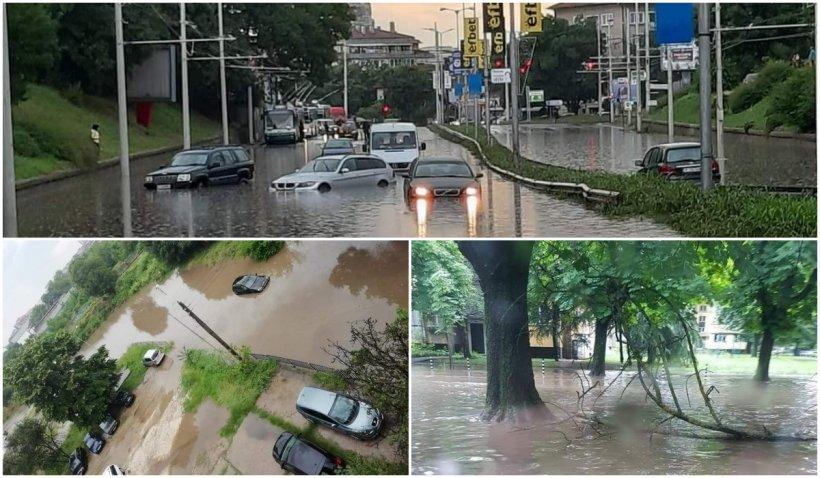 Imagini cu prăpădul făcut de ciclonul din Marea Neagră în Bulgaria