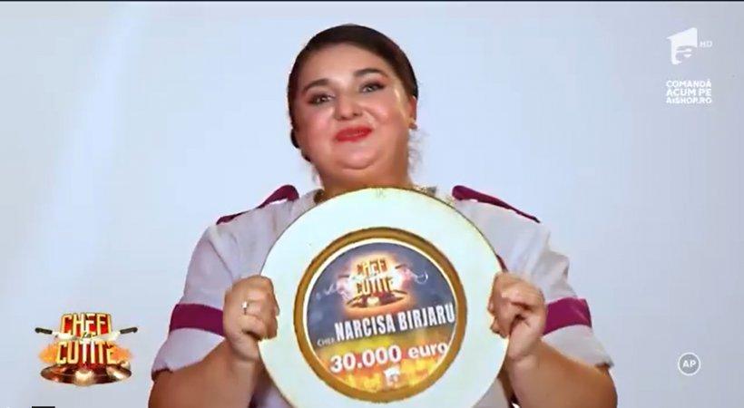 Narcisa Birjaru este câștigătoarea celui de al IX-lea sezon al concursului Chefi la cuțite