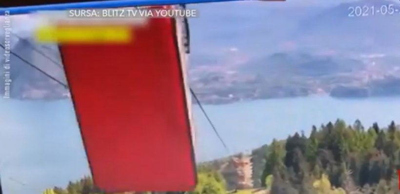 Momentul în care telecabina din Italia se prăbușește în gol