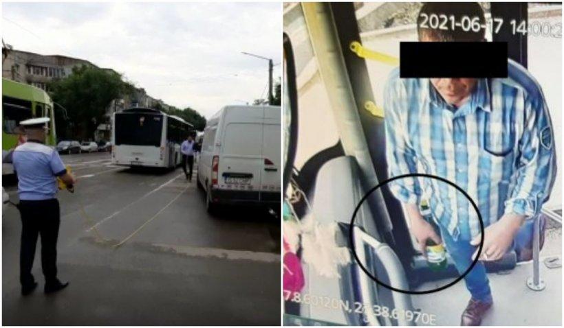 Fată din Iaşi, spulberată de un autobuz condus de un şofer care avea berea în mână, accident filmat de o cameră de supraveghere
