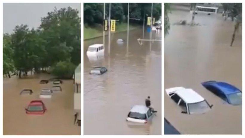 Primele imagini cu dezastrul lăsat în urmă de ciclon, în Bulgaria. În doar câteva ore, ciclonul va ajunge în București