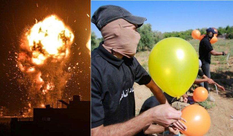 Armata israeliană a atacat ținte din Gaza pentru a doua oară în două zile, după incendiile provocate de baloanele Hamas