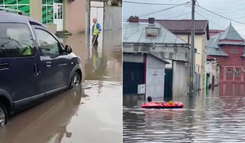Zeci de localități au fost inundate, inclusiv Bucureștiul. Localnicii au ieșit pe străzi cu bărcile