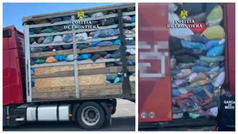 Captură record de deșeuri în Vama Nădlac: Opt TIR-uri încărcate cu peste 130 de tone de gunoaie