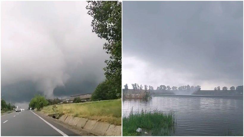 Efectele ciclonului din Marea Neagră! Două tornade au fost surprinse în două judeţe ale țării