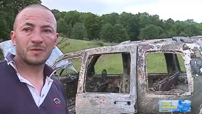 Un bărbat din Mureş a găsit un dispozitiv electronic în maşina în care era să ardă de viu
