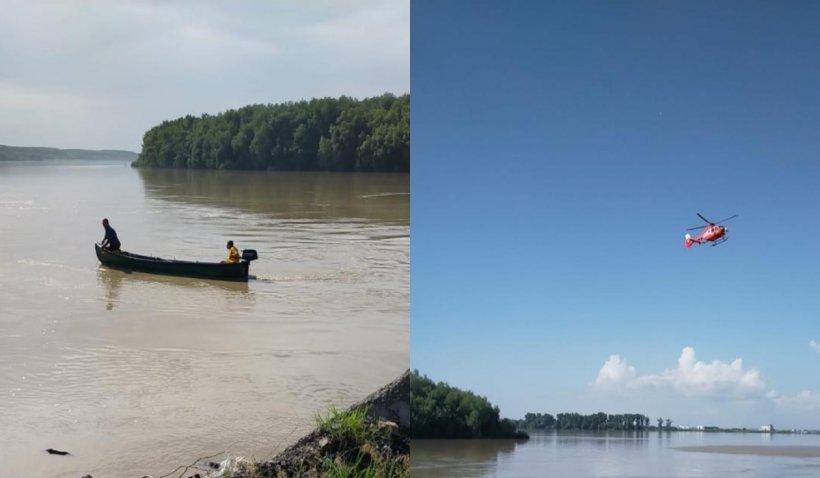 Copile dispărute în Dunăre, căutate cu bărci și elicopterul SMURD: Una dintre fetițe încerca să își salveze sora