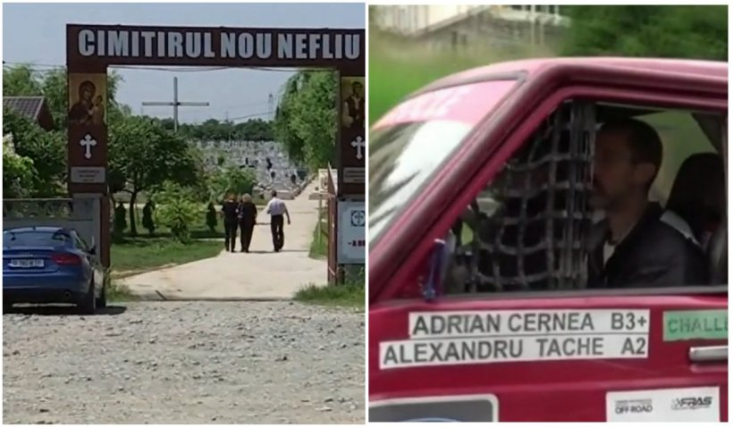 Adrian Cernea, condus pe ultimul drum. Pilotul campion a murit în timpul viituri de pe râul Oituz
