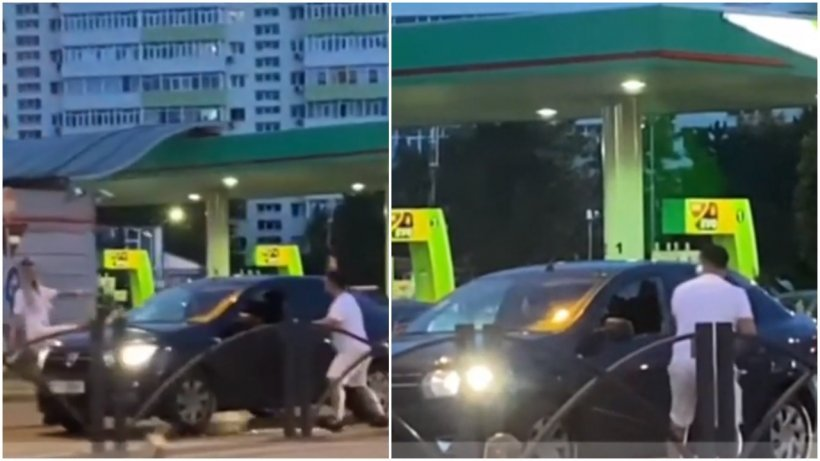 Bărbatul care a atacat în trafic un șofer din București cu o crosă de golf, reținut