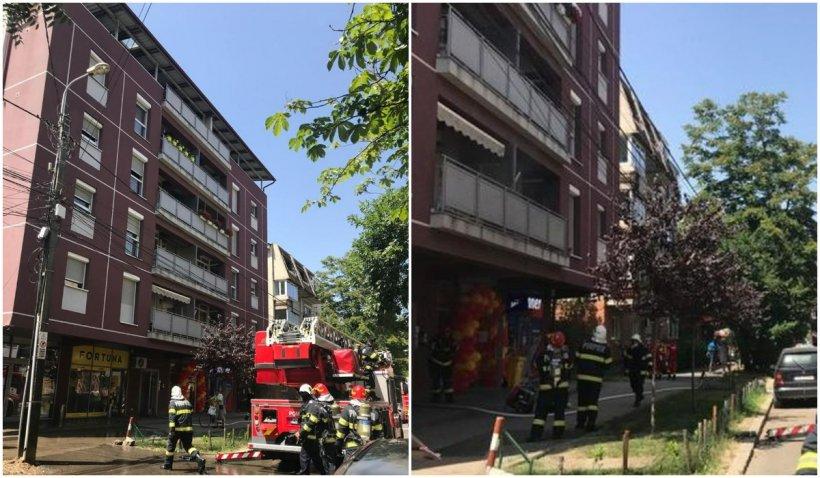 29 de persoane, evacuate din cauza unui incendiu ce a izbucnit la mansarda unui bloc din Timișoara