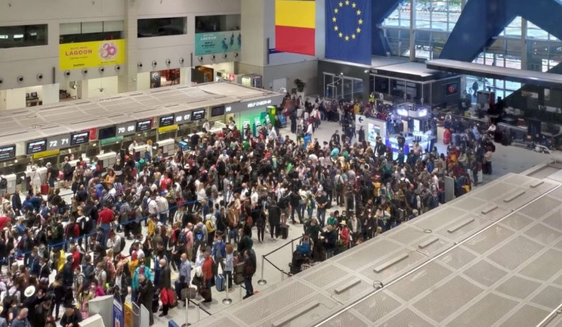 Criză acută de inteligență: Șomaj tehnic, în plin sezon de vacanțe, la Aeroportul Henri Coandă